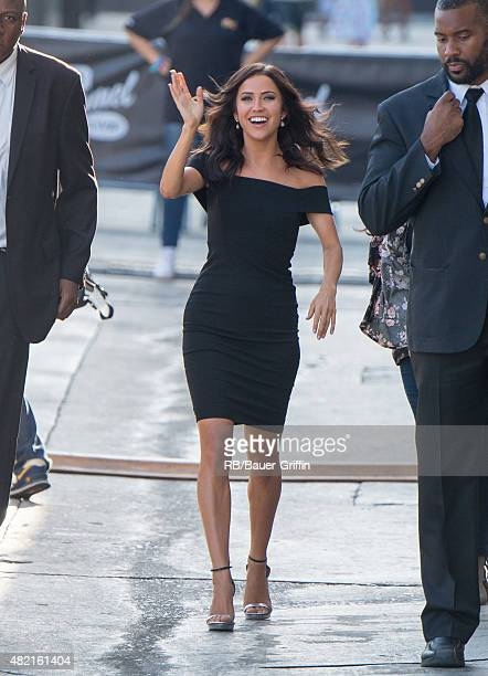 Kaitlyn Bristowe is seen at the 'Jimmy Kimmel Live' show studios on July 27 2015 in Los Angeles California