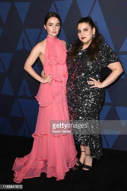 Kaitlyn Dever and Beanie Feldstein attend the Academy Of Motion Picture Arts And Sciences' 11th Annual Governors Awards at The Ray Dolby Ballroom at...