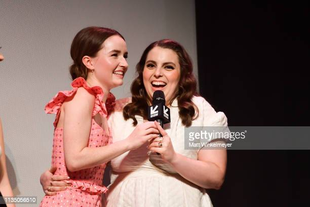 Kaitlyn Dever and Beanie Feldstein attend the Booksmart Premiere 2019 SXSW Conference and Festivals at Paramount Theatre on March 10 2019 in Austin...