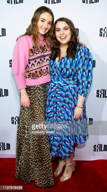 Kaitlyn Dever and Beanie Feldstein attend the red carpet premiere at the Castro Theatre of Booksmart at the 2019 San Francisco International Film...