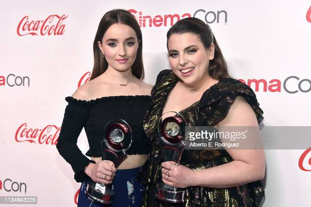 Kaitlyn Dever and Beanie Feldstein, recipients of the Female Stars of Tomorrow award, attends The CinemaCon Big Screen Achievement Awards Brought to...
