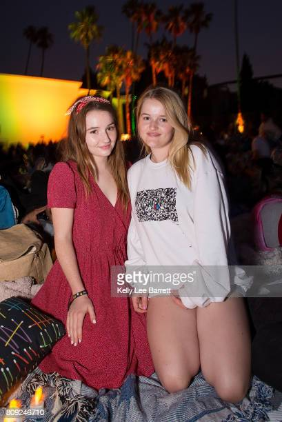 Kaitlyn Dever and Mady Dever attend Cinespia's screening of 'Jurassic Park' held at Hollywood Forever on July 4 2017 in Hollywood California