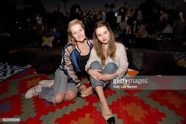 Kaitlyn Dever and Mady Dever attend Cinespia's screening of Sixteen Candles held at Hollywood Forever on September 10 2016 in Hollywood California
