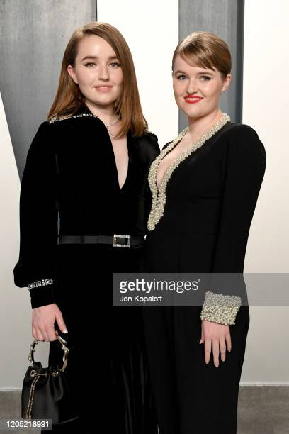 Kaitlyn Dever and Mady Dever attend the 2020 Vanity Fair Oscar Party hosted by Radhika Jones at Wallis Annenberg Center for the Performing Arts on...