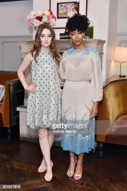Kaitlyn Dever and Sonequa MartinGreen attend Lynn Hirschberg Celebrates W Magazine's It Girls With Dior at AOC on January 6 2018 in Los Angeles...