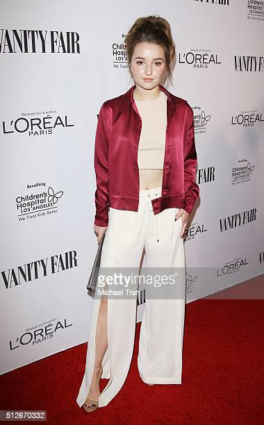 Kaitlyn Dever arrives at the Vanity Fair preOscar party held at Palihouse Holloway on February 26 2016 in West Hollywood California