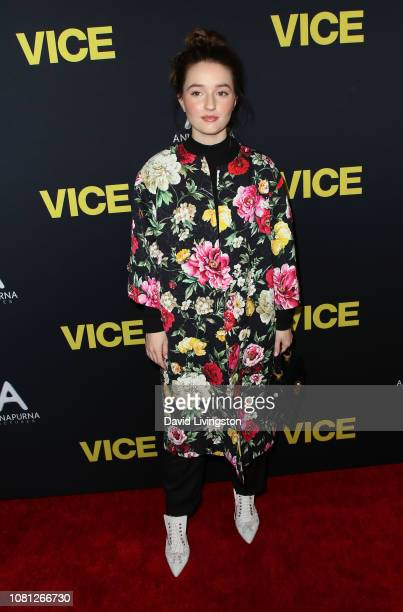 Kaitlyn Dever attends Annapurna Pictures Gary Sanchez Productions and Plan B Entertainment's World Premiere of Vice at the AMPAS Samuel Goldwyn...