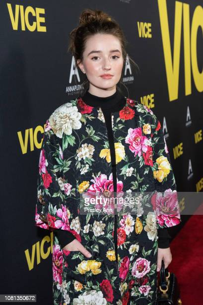 Kaitlyn Dever attends Annapurna Pictures Gary Sanchez Productions And Plan B Entertainment's World Premiere Of Vice at AMPAS Samuel Goldwyn Theater...