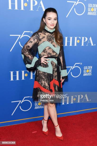 Kaitlyn Dever attends Hollywood Foreign Press Association Hosts Annual Holiday Party And Golden Globes 75th Anniversary Special Screening Arrivals at...