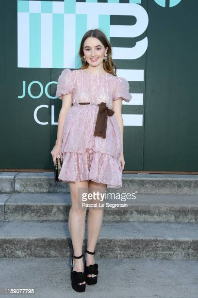Kaitlyn Dever attends miu miu club event at Hippodrome d'Auteuil on June 29 2019 in Paris France