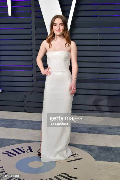Kaitlyn Dever attends the 2019 Vanity Fair Oscar Party hosted by Radhika Jones at Wallis Annenberg Center for the Performing Arts on February 24 2019...
