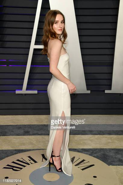 Kaitlyn Dever attends the 2019 Vanity Fair Oscar Party Hosted By Radhika Jones Arrivals at Wallis Annenberg Center for the Performing Arts on...
