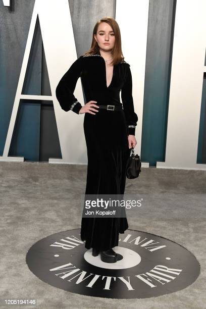 Kaitlyn Dever attends the 2020 Vanity Fair Oscar Party hosted by Radhika Jones at Wallis Annenberg Center for the Performing Arts on February 09 2020...