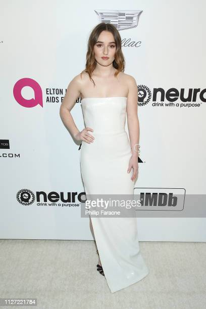 Kaitlyn Dever attends the 27th Annual Elton John AIDS Foundation Academy Awards Viewing Party Celebrating EJAF and The 91st Academy Awards on...