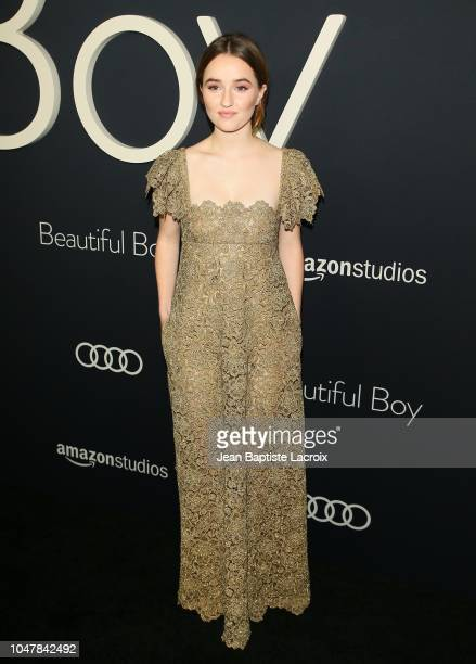 Kaitlyn Dever attends the Amazon Studios Premiere of 'Beautiful Boy' on October 8 2018 in Beverly Hills California