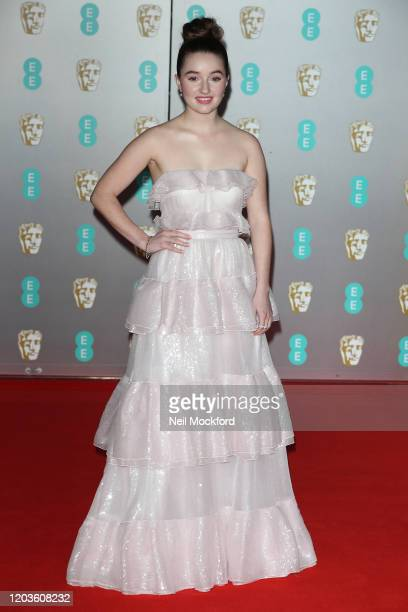 Kaitlyn Dever attends the EE British Academy Film Awards 2020 at Royal Albert Hall on February 02 2020 in London England