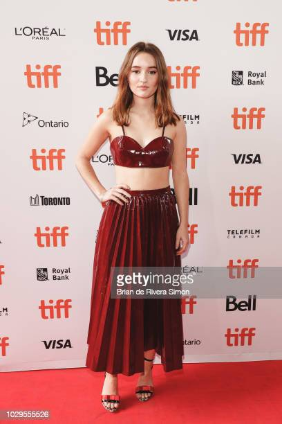 Kaitlyn Dever attends The Front Runner premiere at Ryerson Theatre on September 8 2018 in Toronto Canada
