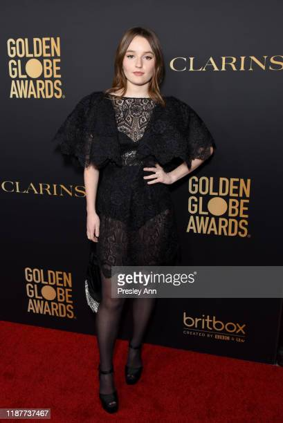 Kaitlyn Dever attends the Hollywood Foreign Press Association and The Hollywood Reporter Celebration of the 2020 Golden Globe Awards Season and...