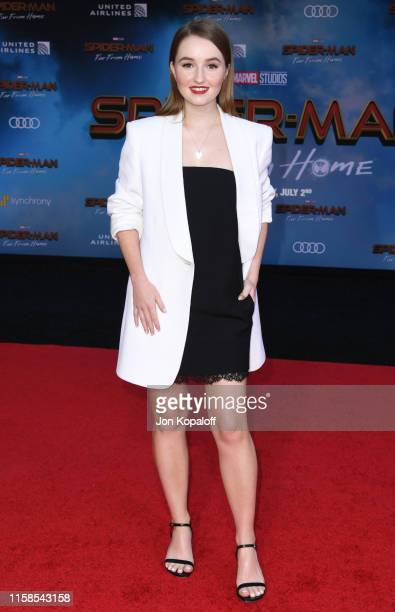 Kaitlyn Dever attends the Premiere Of Sony Pictures' SpiderMan Far From Home at TCL Chinese Theatre on June 26 2019 in Hollywood California