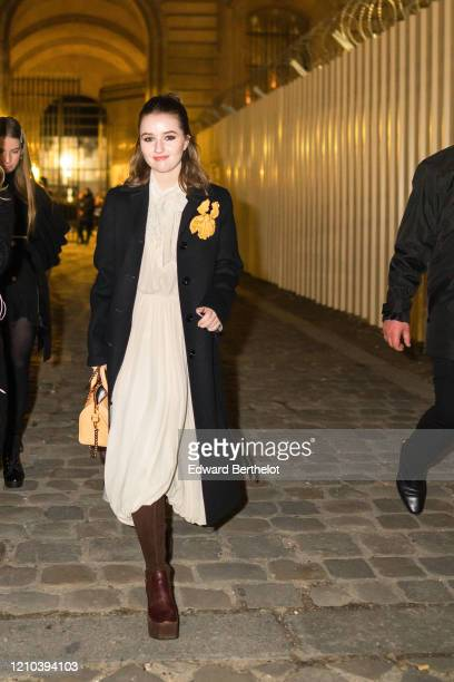 Kaitlyn Dever is seen outside the Vuitton show, during Paris Fashion Week Womenswear Fall/Winter 2020/2021, on March 03, 2020 in Paris, France.