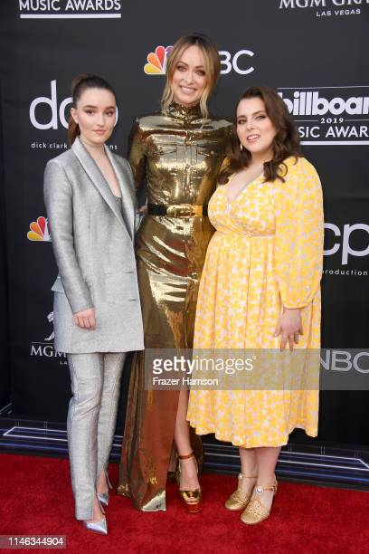 Kaitlyn Dever Olivia Wilde and Beanie Feldstein attend the 2019 Billboard Music Awards at MGM Grand Garden Arena on May 01 2019 in Las Vegas Nevada