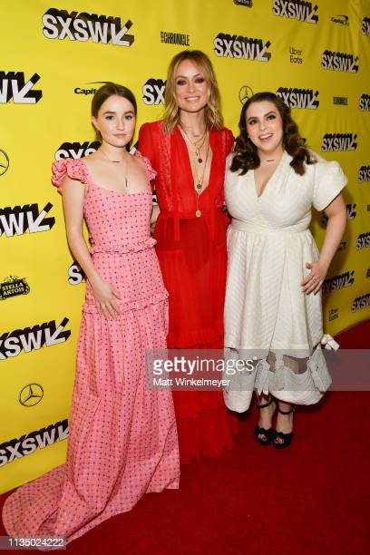 Kaitlyn Dever Olivia Wilde Beanie Feldstein attends the Booksmart Premiere 2019 SXSW Conference and Festivals at Paramount Theatre on March 10 2019...