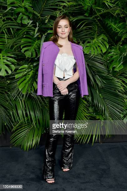 Kaitlyn Dever, wearing CHANEL, attends CHANEL and Charles Finch Pre-Oscar Awards Dinner at Polo Lounge at The Beverly Hills Hotel on February 08,...