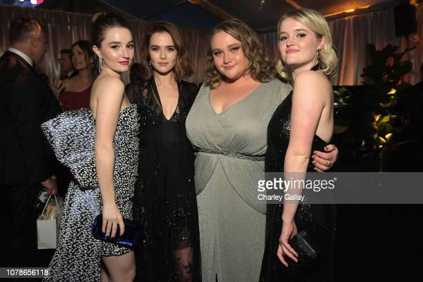 Kaitlyn Dever Zoey Deutch Danielle Macdonald and Mady Dever attend the Netflix 2019 Golden Globes After Party on January 6 2019 in Los Angeles...