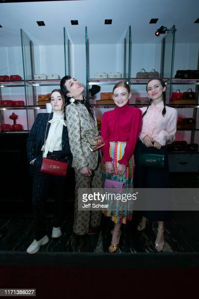 Kaitlyn Dever Zumi Rosow Sadie Sink and Maude Apatow attend Gucci Hosts Private Event To Celebrate The Gucci Zumi Handbag Collection on September 26...