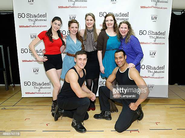 Kaitlyn Frotton Amber Petty Chloe Williamson Ashley Ward and cast perform at the '50 Shades The Musical' Press Preview at The Snapple Theater Center...
