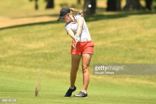 Kaitlyn Papp of the USA hits her third shot on the 17th hole during the third round of the 2017 TOYOTA Junior Golf World Cup at the Chukyo Golf Club...