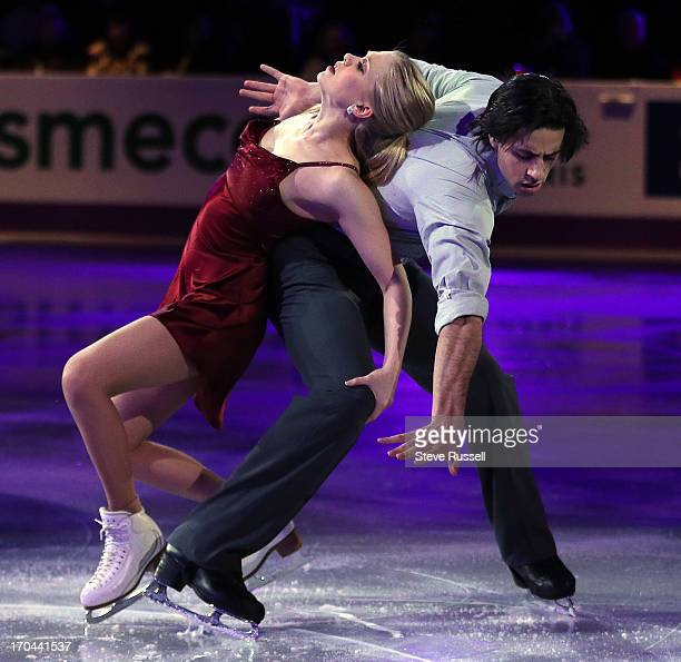 Kaitlyn Weaver and Andrew Poje from who finished fifth in the Ice Dance skate at the ISU World Figure Skating Championship Winners Exhibitiion Gala...