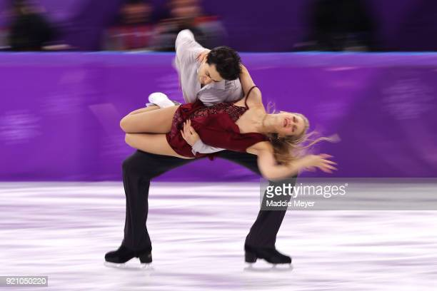 Kaitlyn Weaver and Andrew Poje of Canada compete in the Figure Skating Ice Dance Free Dance on day eleven of the PyeongChang 2018 Winter Olympic...