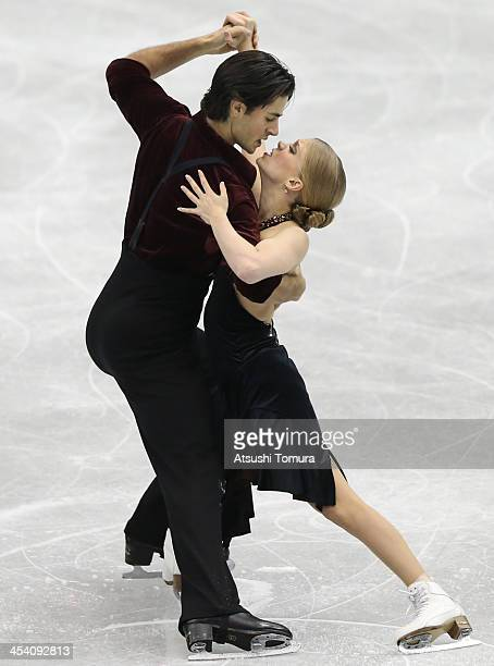 Kaitlyn Weaver and Andrew Poje of Canada compete in the ice dance free dance during day three of the ISU Grand Prix of Figure Skating Final 2013/2014...