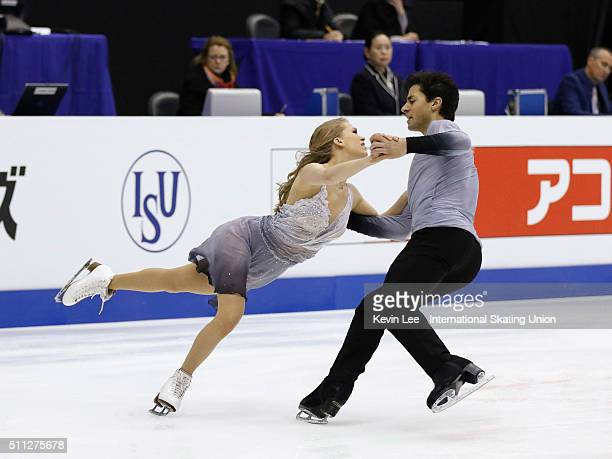 Kaitlyn Weaver and Andrew Poje of Canada perform during the Ice Dance Free Dance on day two of the ISU Four Continents Figure Skating Championships...
