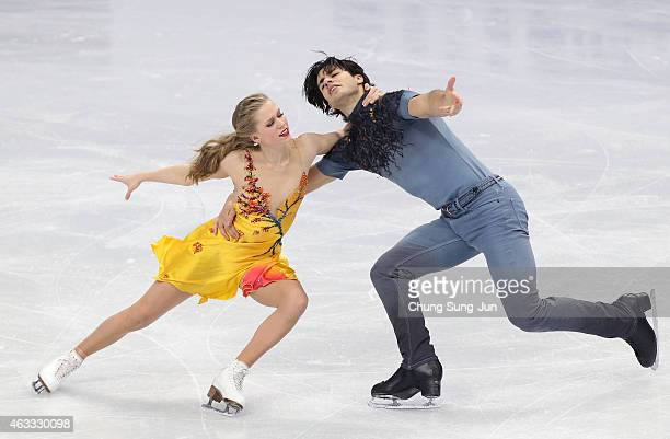 Kaitlyn Weaver and Andrew Poje of Canada performs during the Ice Dance Free Dance on day two of the ISU Four Continents Figure Skating Championships...