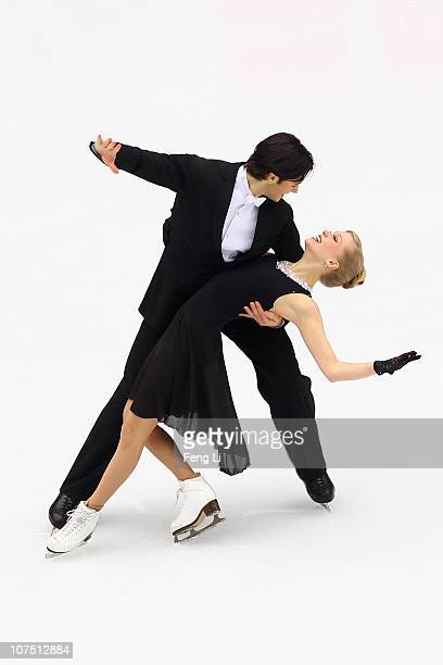 Kaitlyn Weaver and Andrew Poje of Canada skate in the Ice Dance Short Dance during ISU Grand Prix and Junior Grand Prix Final at Beijing Capital...
