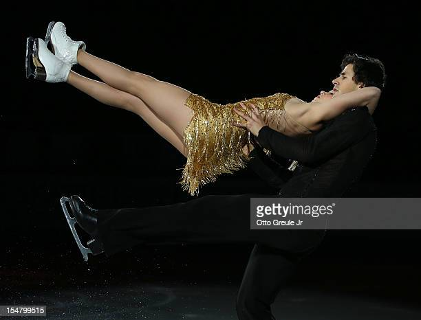 Kaitlyn Weaver and Andrew Poje of Canada skate in the Smucker's Skating Spectacular event during the Skate America competition at the ShoWare Center...