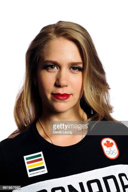 Kaitlyn Weaver poses for a portrait during the Canadian Olympic Committee Portrait Shoot on June 3, 2017 in Calgary, Alberta, Canada.