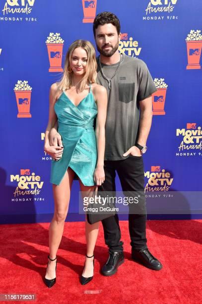 Kaitlynn Carter and Brody Jenner attend the 2019 MTV Movie and TV Awards at Barker Hangar on June 15 2019 in Santa Monica California
