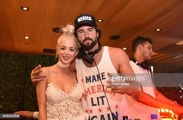 Kaitlynn Carter and Brody Jenner attend the Red White and Bootsy 4th Of July Event at Nobu Malibu on July 4 2016 in Malibu California