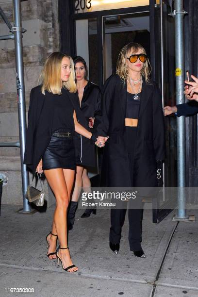 Kaitlynn Carter and Miley Cyrus are seen on September 10 2019 in New York City