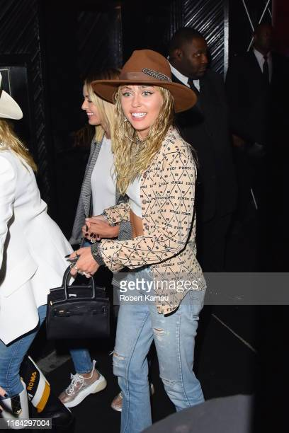 Kaitlynn Carter and Miley Cyrus seen out and about in Manhattan on August 26 2019 in New York City