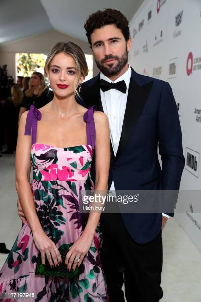Kaitlynn Carter Jenner and Brody Jenner attend the 27th annual Elton John AIDS Foundation Academy Awards Viewing Party sponsored by IMDb and Neuro...