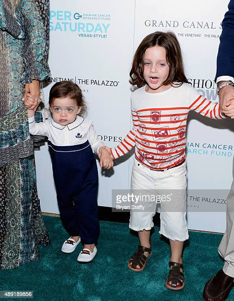 Kaius Berman and Skyler Berman arrive at Grand Canal Shoppes at The Venetian The Palazzo and Fashion Show Las Vegas as their mother Rachel Zoe hosts...