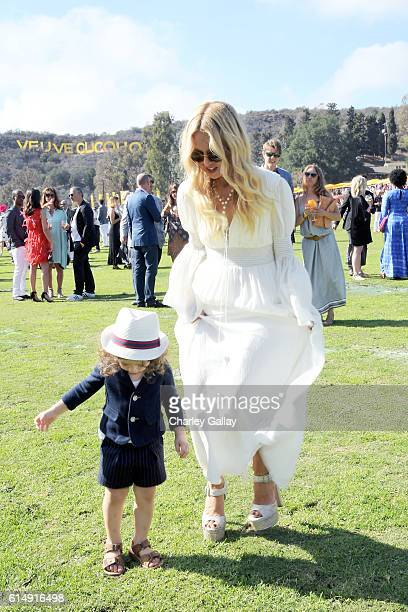Kaius Jagger Berman and designer Rachel Zoe attend the Seventh Annual Veuve Clicquot Polo Classic Los Angeles at Will Rogers State Historic Park on...