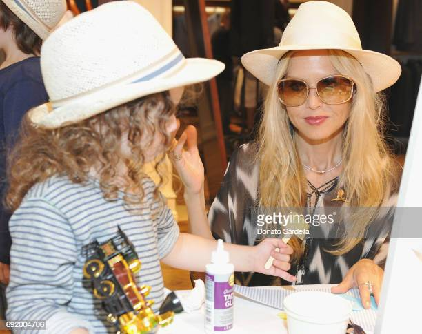 Kaius Jagger Berman and Rachel Zoe at the Brooks Brothers Beverly Hills summer camp party benefitting St Jude Children's Research Hospital at Brooks...