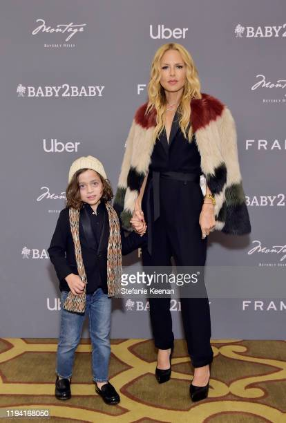 Kaius Jagger Berman and Rahel Zoe attend The Baby2Baby Holiday Party Presented By FRAME And Uber at Montage Beverly Hills on December 15, 2019 in...