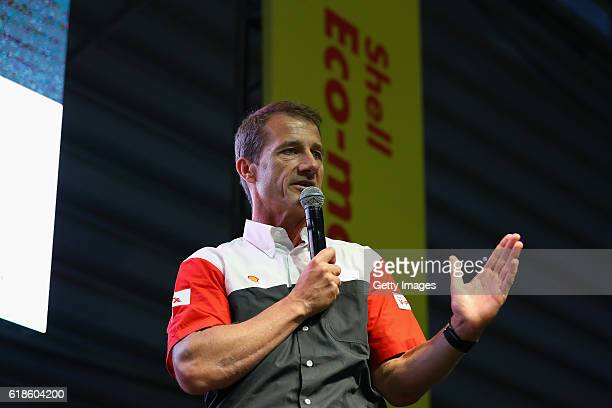 KaiUwe Witterstein Shell Sponsorship talks on stage at the Shell Eco Marathon event during the Formula One Grand Prix of Mexico at Autodromo Hermanos...