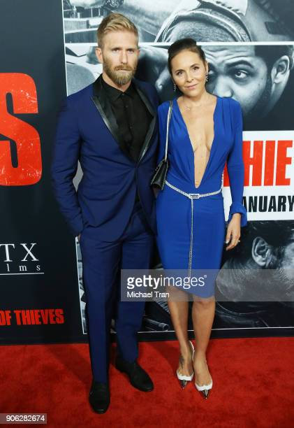 Kaiwi LymanMersereau arrives to Los Angeles premiere of STX Films' 'Den Of Thieves' held at Regal LA Live Stadium 14 on January 17 2018 in Los...